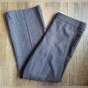 BCBGMaxAzria Gray Pinstripe Suit Pants Wool Blend